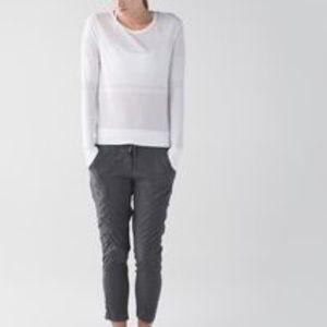 Lululemon | White Gray Breeze Long Sleeve Shirt 4